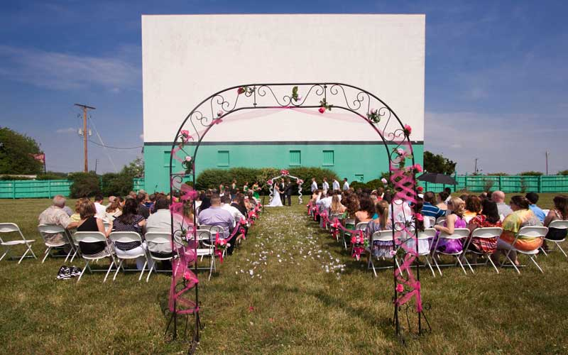 Drive-In Wedding